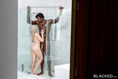 Imagen etiquetada con: Allie Nicole, Blacked.com, Blonde, Interracial, Shower