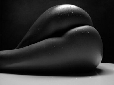 Imagen etiquetada con: Black and White, Ass - Butt