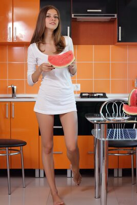 Imagen etiquetada con: Skinny, Amour Angels, Brunette, Ksenia, Watermelon Joy, Cute, Safe for work