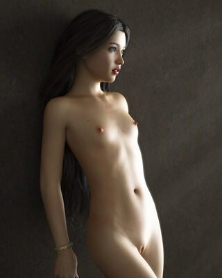 Imagen etiquetada con: Skinny, Brunette, Cute, Flat chested, Pussy, Tummy
