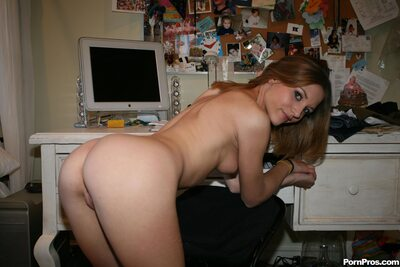 Imagen etiquetada con: Skinny, Brunette, Kasey Chase, Ass - Butt, Small Tits