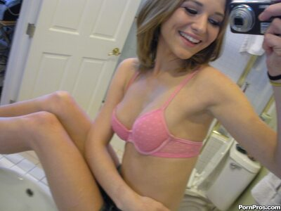 Imagen etiquetada con: Skinny, Brunette, Kasey Chase, Cute, Lingerie, Selfie, Small Tits, Smiling